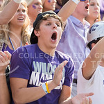 Fans cheer during the game vs. UTEP on Sept. 27, 2014 in Bill Snyder Family Stadium. (George Walker | The Collegian)