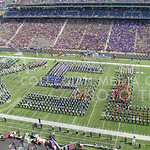 The KSU Marching Band performing alongside high school band members during Band Day at the KSU vs. UTEP football game at Bill Synder Family Statium on September 27, 2014. (Cassandra Nguyen | The Collegian)