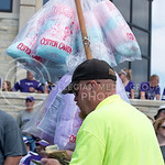 A cotton candy seller collects money during the game vs. UTEP on Sept. 27, 2014 in Bill Snyder Family Stadium. (George Walker | The Collegian)