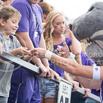 A fan gets something signed by Willie during the game vs. UTEP on Sept. 27, 2014 in Bill Snyder Family Stadium. (George Walker | The Collegian)