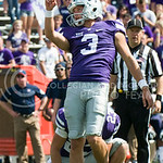 K-State kicker Jack Cantele watches his kick go wide of the uprights on the point after attempt on Saturday, September 27, 2014 at Bill Snyder Family Stadium.
