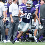 Senior wide receiver Tyler Lockett takes the ball downfield during the game vs. UTEP on Sept. 27, 2014 in Bill Snyder Family Stadium. (George Walker | The Collegian)
