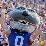 Willie shakes his keys during the game vs. UTEP on Sept. 27, 2014 in Bill Snyder Family Stadium. (George Walker | The Collegian)