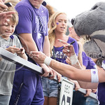A fan smiles after getting something signed by Willie during the game vs. UTEP on Sept. 27, 2014 in Bill Snyder Family Stadium. (George Walker | The Collegian)
