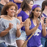 Fans clap during the game vs. UTEP on Sept. 27, 2014 in Bill Snyder Family Stadium. (George Walker | The Collegian)
