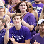 Fans cheer on the Wildcats during the game vs. UTEP on Sept. 27, 2014 in Bill Snyder Family Stadium. (George Walker | The Collegian)