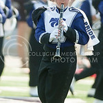A K-State Marching Band member plays a clarinet during the pre-game show at Bill Snyder Family Stadium on Sept. 27, 2014. (George Walker | The Collegian)