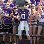 Willie cheers with fans during the game vs. UTEP on Sept. 27, 2014 in Bill Snyder Family Stadium. (George Walker | The Collegian)