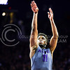 Senior forward Nino Williams makes yet another free throw in the final seconds of the second half of the Wildcats' 70-63 victory over the #8-ranked Jayhawks in the 281st Sunflower Showdown February 23, 2015, in Bramlage Coliseum. (Parker Robb | The Collegian)