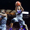 Sophomore forward Wesley Iwundu soars for a layup in the second half of the Wildcats' 70-63 victory over the #8-ranked Kansas Jayhawks February 23, 2015, in Bramlage Coliseum. (Parker Robb | The Collegian)