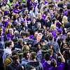 ESPN's Holly Rowe interviews head coach Bruce Weber about the win midcourt following the Wildcats' second victory in as many years over #8-ranked archrival Kansas in Bramlage Coliseum February 23, 2015. (Parker Robb | The Collegian)