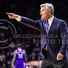 Head coach Bruce Weber orders one of his players to guard a Kansas player in the first half of the Wildcats' 70-63 victory over the #8-ranked Jayhawks in the 281st Sunflower Showdown February 23, 2015, in Bramlage Coliseum. (Parker Robb | The Collegian)