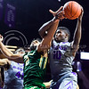 Freshman forward Malek Harris grabs an offensive rebound from Baylor forward Rico Gathers in the second half of the Wildcats' 63-61 come-from-behind victory over the #22 Bears Saturday, January 17, 2015, in Bramlage Coliseum. (Parker Robb | The Collegian)
