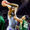 Baylor guard Al Freeman guards K-State junior forward Stephen Hurt as Hurt tries to pass in the first half of the Wildcats' 63-61 come-from-behind victory over the #22 Bears Saturday, January 17, 2015, in Bramlage Coliseum. (Parker Robb | The Collegian)