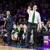 Baylor head coach Scott Drew instructs his players as K-State makes a comeback via a 17-2 run in the second half of the Wildcats' 63-61 come-from-behind victory over the #22 Bears Saturday, January 17, 2015, in Bramlage Coliseum. (Parker Robb | The Collegian)