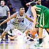 Freshman forward Malek Harris digs in against Baylor guard/forward Ishmail Wainright in the first half of the Wildcats' 63-61 come-from-behind victory over the #22 Bears Saturday, January 17, 2015, in Bramlage Coliseum. (Parker Robb | The Collegian)