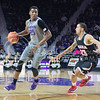 K-State forward Wesley Iwundu dribbles during the game against Nebraska-Omaha on Dec. 2, 2014 at Bramlage Coliseum. K-State defeated Omaha-Nebraska 84-66. (George Walker | The Collegian)