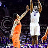 Senior forward Nino Williams nails a jumper in the second half of the Wildcats' 63-53 defeat of the Cowboys January 24, 2015, in Bramlage Coliseum. (Parker Robb | The Collegian)