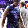 Senior forward Nino Williams walks off the court head hanging low in defeat following K-State's loss to the Texas Longhorns February 7, 2015, in Bramlage Coliseum. (Parker Robb | The Collegian)