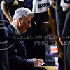 Head coach Bruce Weber draws out a play on the whiteboard for his team in the second half of the Wildcats' 57-61 shortcoming at the hands of the #25 Longhorns February 7, 2015, in Bramlage Coliseum. (Parker Robb | The Collegian)