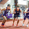 Freshman Daniel Worthington (far left), freshman Bryan Zack (second from left), and junior Blake Goodin (far right) prepare to take off on the men's 3000m run at the DeLoss Dodds Invitational track & field meet January 24, 2015, in Ahearn Fieldhouse. (Parker Robb | The Collegian)
