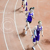 Junior Blake Goodin (front), freshman Lukas Koch (back), and a University of Tulsa runner round a corner in the men's 3000m run at the DeLoss Dodds Invitational track & field meet January 24, 2015, in Ahearn Fieldhouse. (Parker Robb | The Collegian)