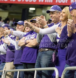 K-State fans do the 'Wabash' during the 2015 Alamo Bowl game against UCLA on Jan. 2, 2015. (George Walker | The Collegian)