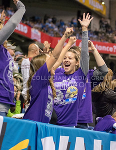 K-State fans react to a touchdown during the 2015 Alamo Bowl game against UCLA on Jan. 2, 2015. (George Walker | The Collegian)