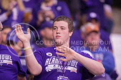 A K-State fan during the 2015 Alamo Bowl game against UCLA on Jan. 2, 2015. (George Walker | The Collegian)