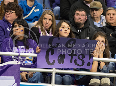 K-State fans react to the 35-40 loss to UCLA after the 2015 Alamo Bowl game on Jan. 2, 2015. (George Walker | The Collegian)
