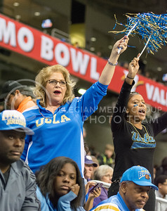 UCLA fans cheer during the 2015 Alamo Bowl game against UCLA on Jan. 2, 2015. (George Walker | The Collegian)