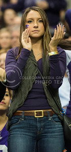 A fan stays serious and focused for the game during the 2015 Valero Alamo Bowl game against UCLA at the Alamo Dome in San Antonio on Jan. 2, 2015.  (Rodney Dimick | The Collegian)