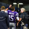 Senior quarterback Jake Waters waves to fans one last time as he enters the tunnel to the locker rooms following his last game at the helm of K-State's offense in the Valero Alamo Bowl January 2, 2015, in the Alamodome in San Antonio, Texas. In his senior season, Waters set K-State records for total yards (3,985), average yards per game (306.5), passing yards (3,501) and completion percentage (66.0%) in a single season, also finishing the season with 22 touchdowns, and seven interceptions. Over his two year career, he finished first in total offense per game (260.2 yards) and completion percentage (64.0%). (Parker Robb | The Collegian)