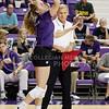 Sophomore Kersten Kober serves the ball in the game against Arkansas University on Sept. 4, 2014. (Kandace Griffin | The Collegian)