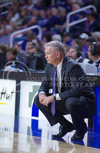 Women's basketball head coach Jeff Mittie during the game against Emporia State  at Bramlage Coliseum on Nov. 3, 2014. K-State defeated Emporia State 54-50. (George Walker | The Collegian)