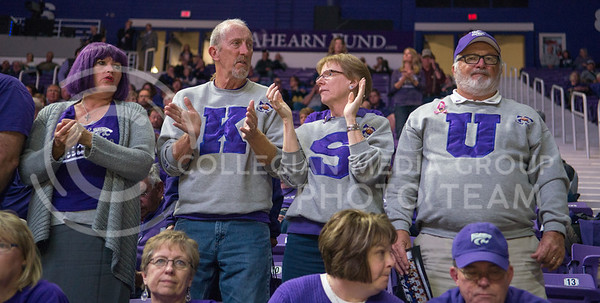 K-State fans cheer on the Wildcats during the game against Emporia State  at Bramlage Coliseum on Nov. 3, 2014. K-State defeated Emporia State 54-50. (George Walker | The Collegian)