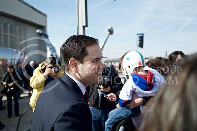 Macro Rubio spoke at a small rally in Topeka, Kansas on Mar. 4, 2016. (Austin Fuller | The Collegian)