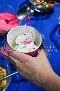 Kappa Kappa Gamma and Delta Sigman Phi hosted a Sundae Funday philanthropy event on April 3, 2016, at the Kappa Kappa Gamma house. The event benefitted Reading Is Fundamental. (Matthew Zajic   The Collegian)