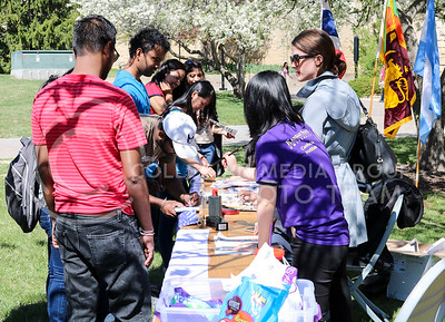Participants learn about different cultures through activities hosted by the International Coordinating Council in the Quad on April 4, 2016. (Matthew Zajic | The Collegian)