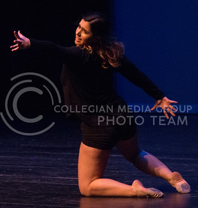 Katie Phillips, freshman in business, dances for the talent portion of the Miss K-State competition in McCain auditorium on April 12, 2016. (Miranda Snyder | The Collegian)