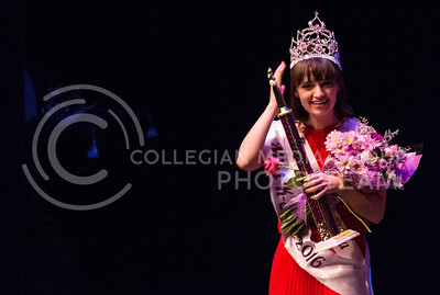 Christine Rock, junior in food science and industry, wins the title of Miss K-State 2016 at McCain auditorium on April 12, 2016. (Miranda Snyder | The Collegian)