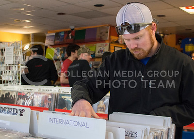Craig Stensaas. Concordia resident, traveled to town to visit Sisters of Sound music store for International Record Store Day on April 16, 2016. (Miranda Snyder | The Collegian)