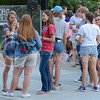 "Students converse during ""Fresh"" on Sept. 1, 2015 at Bosco Plaza.  ""Fresh"" is a Christian organization to help incoming freshmen students with college life and teach them about Christ.  (Rodney Dimick 