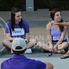 "Students share their lives with each other during ""Fresh"" on Sept. 1, 2015 at Bosco Plaza.  ""Fresh"" is a program for K-State freshmen looking for direction during college with a Biblical standpoint.  (Rodney Dimick 