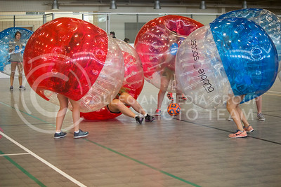 Beta Sigma Psi hosted their first philanthropy event this year to benefit the Brett Mock Scholarship fund at the Chester E. Peters Recreation Complex on October 3, 2015. The Bubble Soccer event had separate brackets for the sororities and fraternities that participated in the event. ( Miranda Snyder | The Collegian)