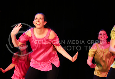 """Jamie Teixeria, a senior in English, performed """"Hide and Seek"""" in the Mark Chapman Theatre during the dress rehearsal of Winter Dance on Dec. 1, 2015. (Rachael Cunningham   The Collegian)"""