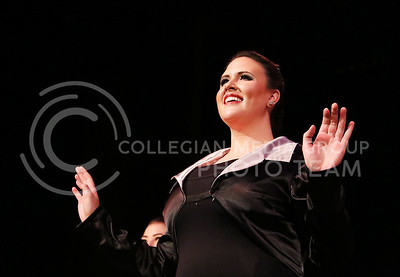 """Abigail Owen, a senior in nutrition and kinesiology, performed """"Sing, Sing Sing"""" in the Mark Chapman Theatre during the dress rehearsal of Winter Dance on Dec. 1, 2015. (Rachael Cunningham   The Collegian)"""