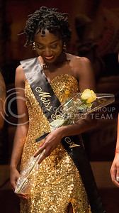 Sydnee Harris, senior in education, recieves the title of Miss GPA at the Miss Black and Gold Pageant in Forum Hall at the K-State Student Union on Dec, 5, 2015. (Miranda Snyder | The Collegian)