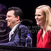 """Husband and wife political pundit duo John Avlon, Editor-in-Chief of The Daily Beast and CNN political contributor, and Margaret Hoover, CNN political contributor and author, discuss the current political scene in the race for the U.S. Presidency, politics' trend toward """"superbipolarism,"""" and how the Republican Party could be saved by Millennials, during their Landon Lecture Apr. 15, 2016, in McCain Auditorium. (Parker Robb 