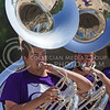 K-State Marching Band tuba players perform at the K-State Student Union renovation groundbreaking ceremony Wednesday afternoon. (Parker Robb | The Collegian)